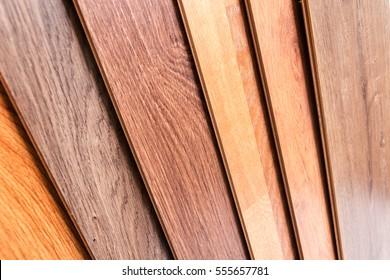 Wooden laminate parquet in interior