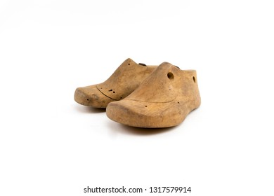 wooden lasts for a kids shoe