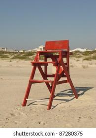 Wooden Lifeguard Chair on Beach