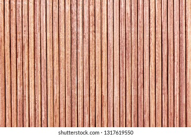 Wooden lines pattern background. Table mat closeup texture. Asian bamboo sticks backdrop.