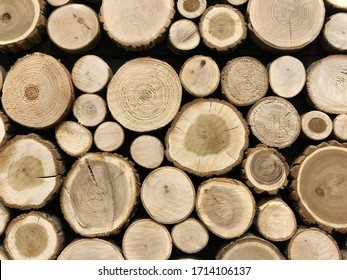 wooden log house, wood cut across the background, Wood cut across