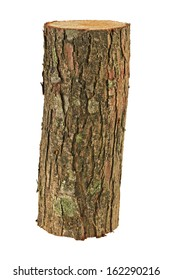 wooden log isolated