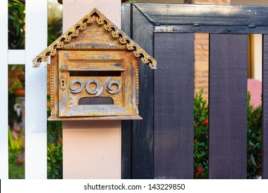 Wooden Mailbox for get mail