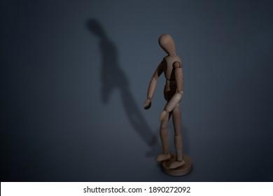 wooden man gestures and figures