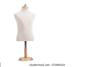 Wooden Mannequin Isolated On White Background