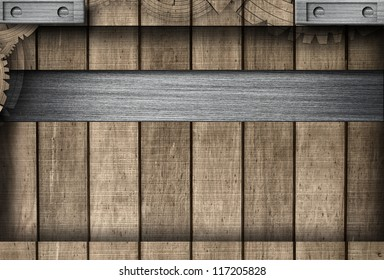 Wooden and Metal Background