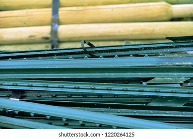 Wooden metal fence posts