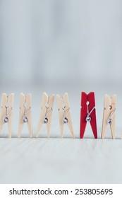 Wooden mini clothes pins