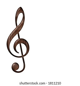 Wooden Musical Note