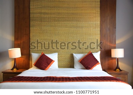 Wooden Natural Mat Bed Headboards Asian Stock Photo Edit Now