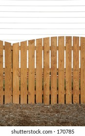 wooden natural picket fence