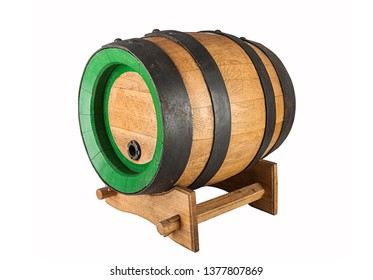 Wooden oak barrel with stand (view and other angle in portfolio)