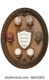 wooden object that tells the story of golf balls