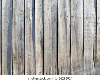 Wooden old boards of natural unpainted color. Background and texture.