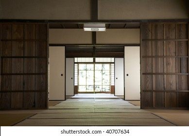 The wooden old house which is an important cultural asset.