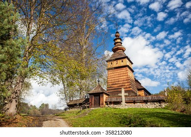 Wooden orthodox church in Kotan, Beskid Niski, Poland