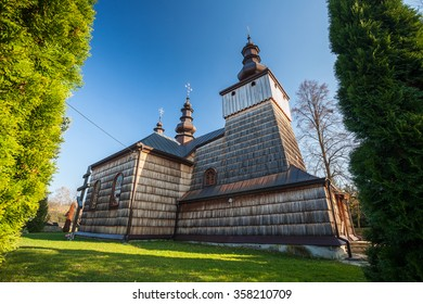 Wooden Orthodox church in Losie, Beskid Niski, Poland
