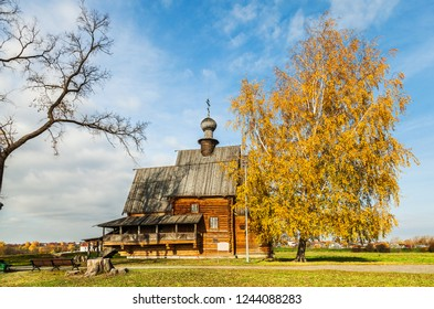 Wooden Orthodox church of St. Nicholas in the Suzdal Kremlin. Russia