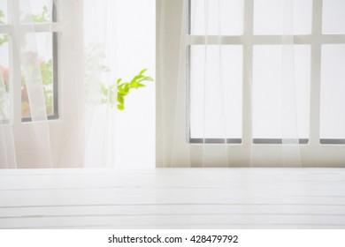 Wooden over summer window background