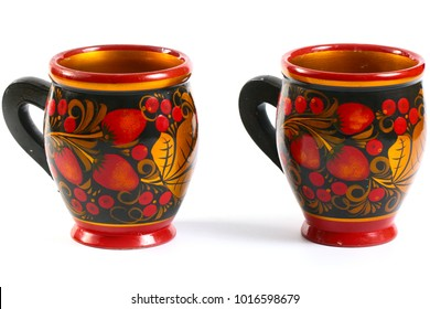 Wooden painted dishes as a symbol of Russian national culture