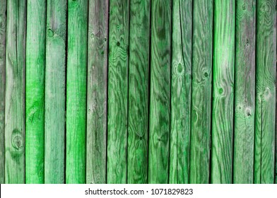 wooden painted palisades