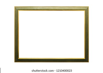 Wooden painted picture frame, isolated on white. With clipping path.