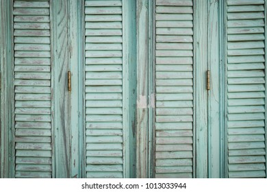 wooden painted shutters