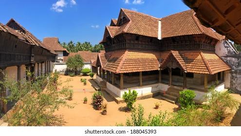 The wooden palace Padmanabhapuram of the maharaja in Trivandrum