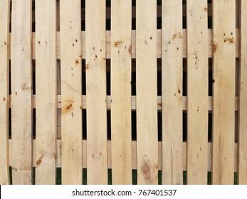 Wooden pallet stack background