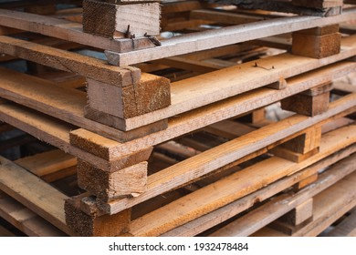 Wooden pallets for industrial and transport.