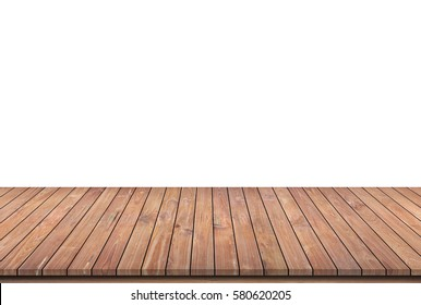 Wooden panel isolated on white.