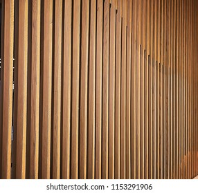 Wooden partition slat use