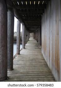 Wooden passage in Norway.