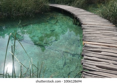 Wooden path at Plitvice Lakes National Park