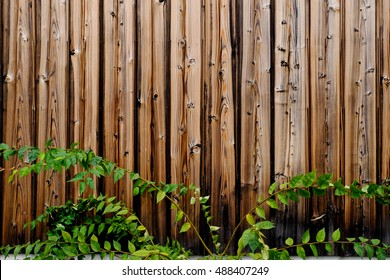 wooden pattern cover with leaf