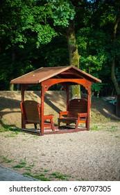 wooden pavilion