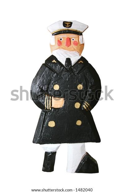 Wooden Peg Leg Captain Figurine Has Stock Photo Edit Now 1482040
