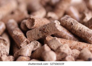 Wooden pellet granule