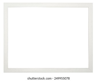 Wooden picture frame, with clipping path.