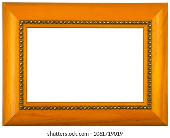 Wooden picture frame. Isolated on white