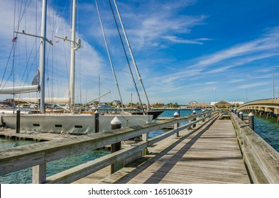 Wooden Pier and Clear Sky