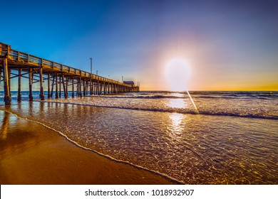 Wooden pier in Newport Beach, California