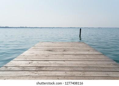 Wooden Pier and Ocean