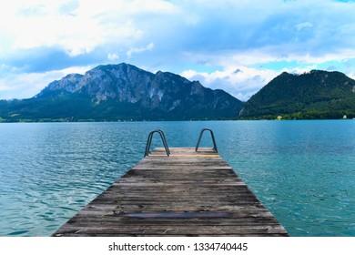 Wooden Pier on Attersee - Unterach am Attersee, Austria