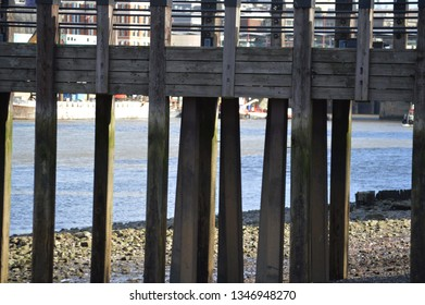 wooden pier on the Thames