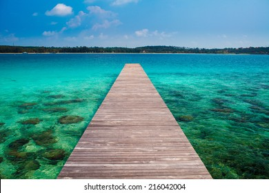 Wooden pier in thailand