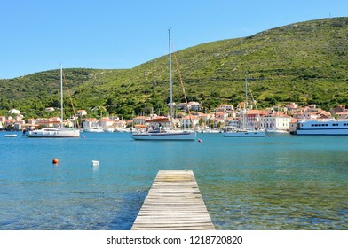 Wooden Pier View of Vis Town - Vis, Croatia
