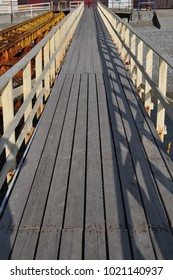 wooden pier for a walk