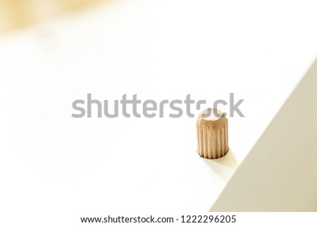 Wooden pin in the Board to a wall