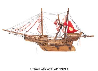 wooden pirate ship boat model cutout